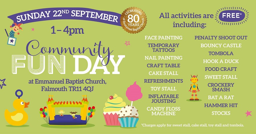 Community Fun Day : 22 Sep, Falmouth