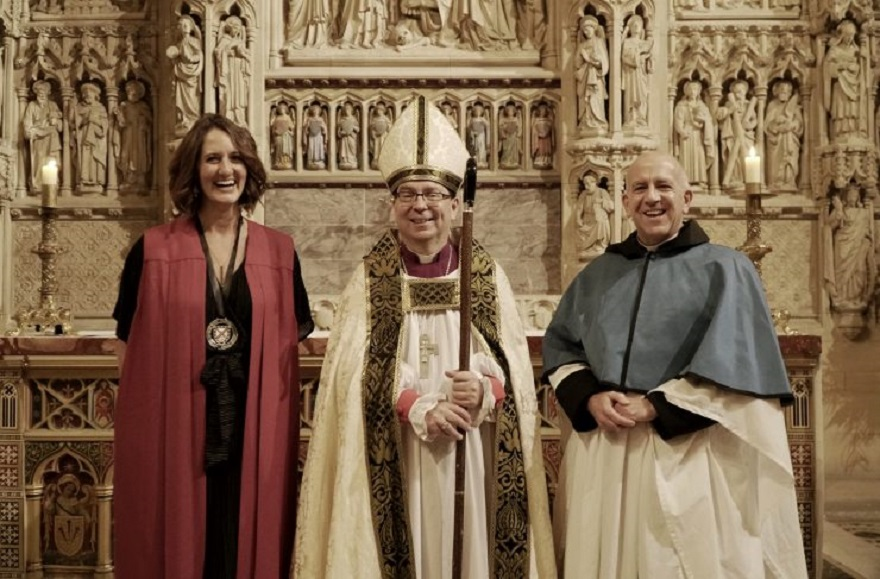 Sarah Yardley & Rev Simon Cade installed as new Canons at Truro Cathedral
