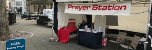 Prayer Tent on The Moor : 2 May, Falmouth