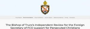 Bishop of Truro's Independent Review  of FCO Support for Persecuted Christians Published